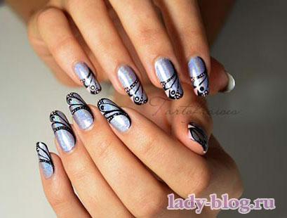 Рисунки на ногтях пошагово