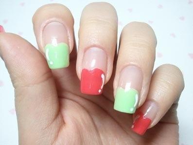 Рисунки на ногтях для лета - фрукты