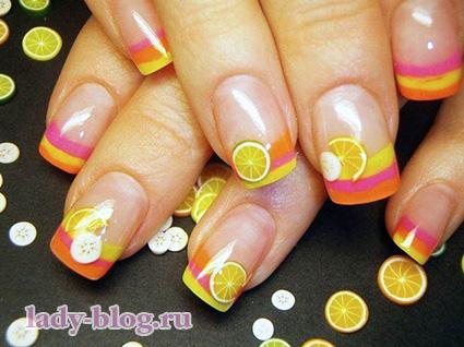 Рисунки на ногтях для лета