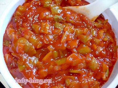 Лечо из болгарского перца и помидоров- простой рецепт