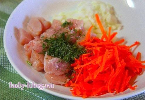 Овощной крем-суп с брокколи и куриными фрикадельками