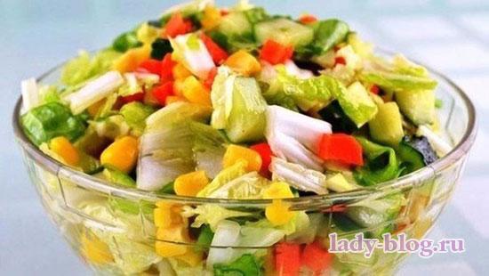 Овощной салат с пекинской капустой без маойнеза