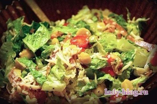 Салат с рукколой без майонеза
