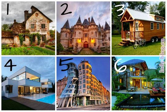 Выберите приглянувшийся дом и узнайте о себе чуточку больше