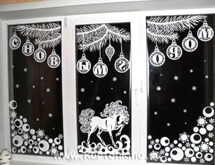 Как украсить окна в доме к Новому 2019 г