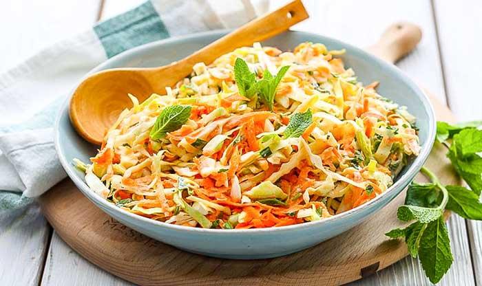 Салаты из свежей капусты- рецепты с фото